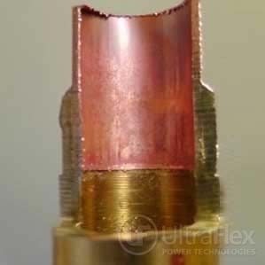 induction brazing of copper tubing and brass fitting