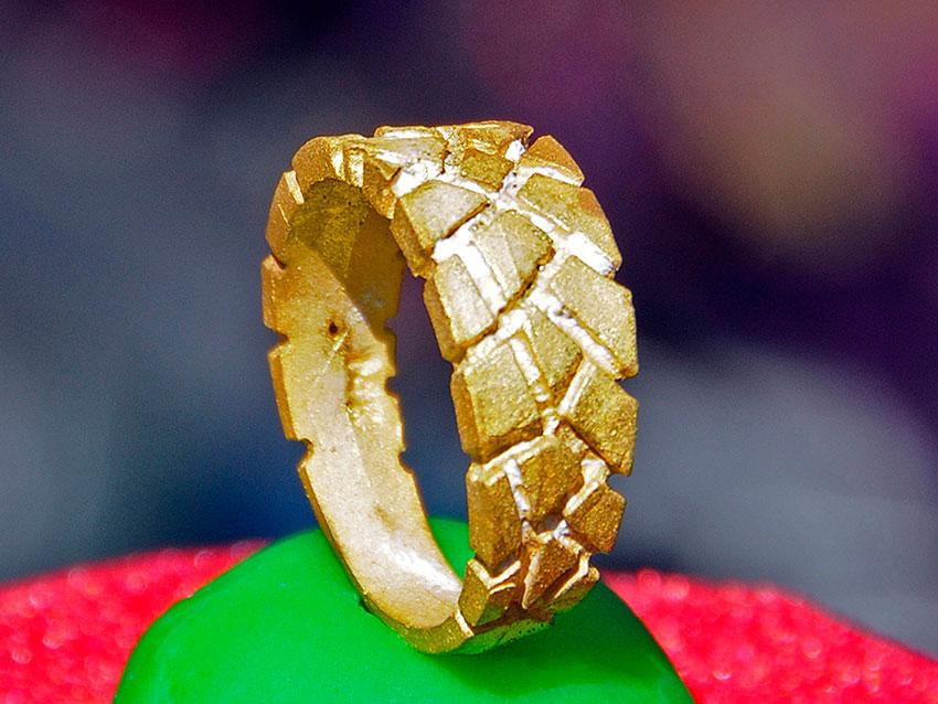 Gold casting sample