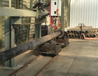 induction preheating and postheating pipes