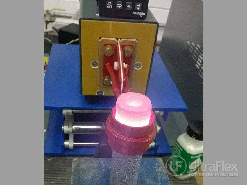 induction heating a Silicon Carbide cylinder
