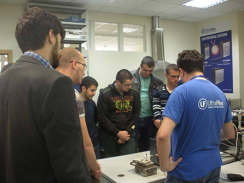 Ultraflex demonstrated induction heating to students