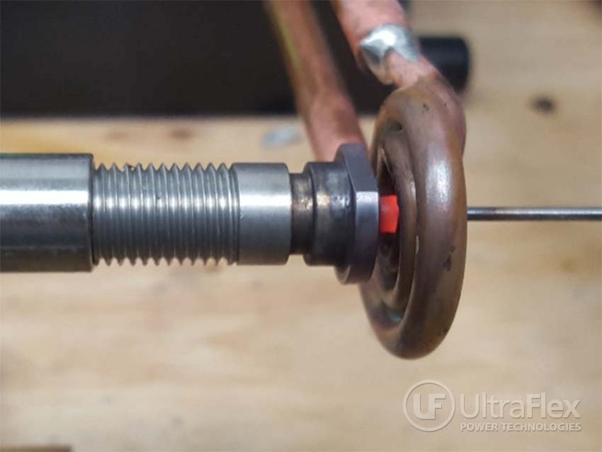 Brazing elbow fittings to a stainless steel part with