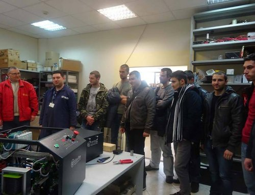 Tour of our lab by engineering students