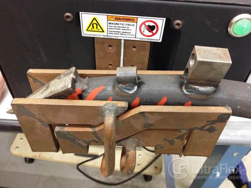 Pre heat steel fertilizer shank