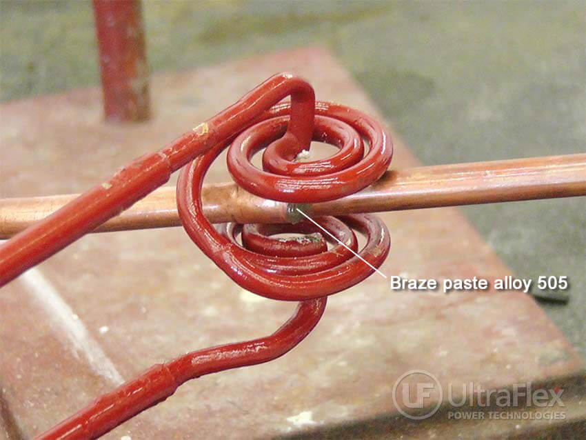 Brazing small copper tubing