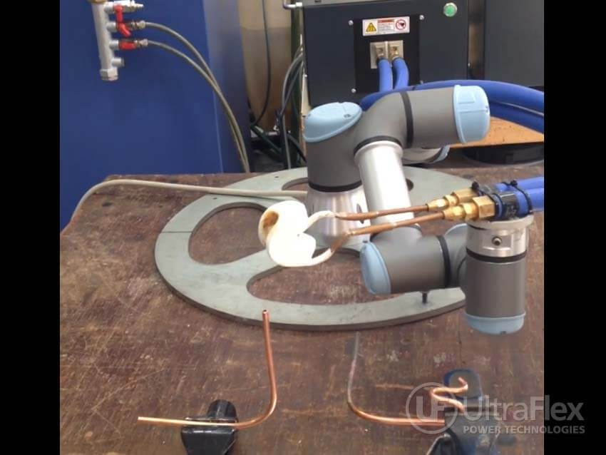 Brazing small copper tubing