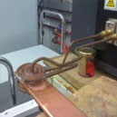 Induction brazing copper bars