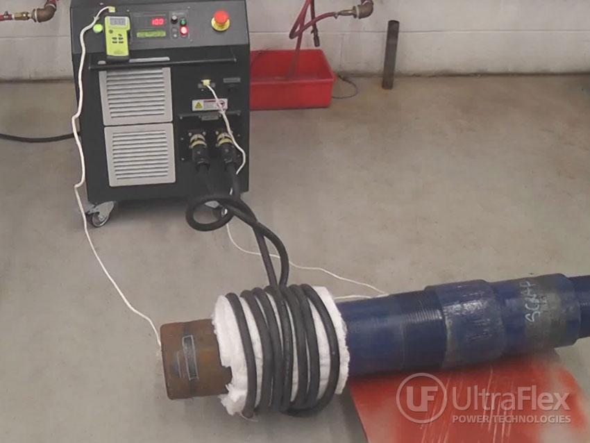 Heating Steel Pipe