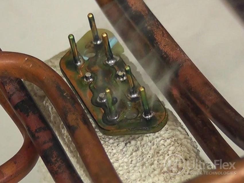 solder on copper board
