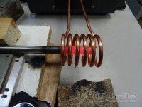 Preheating steel tubes