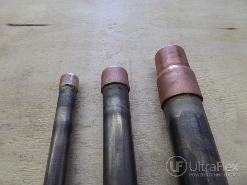 braze copper cap and titanium