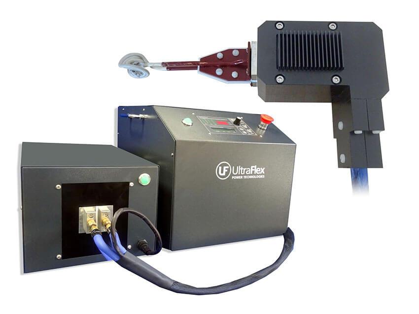 Mobile induction brazing machine