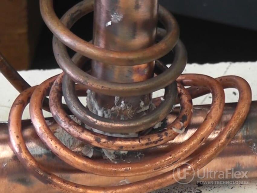 Copper pipe brazing