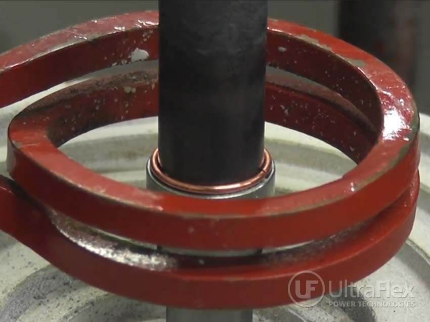 Brazing steel with induction