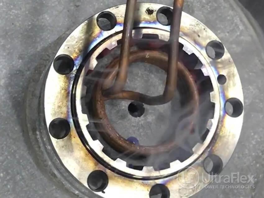 induction hardening flange groove