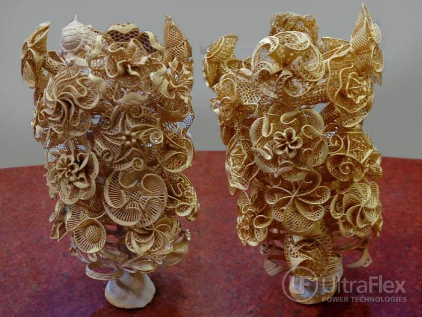 Gold casting sample