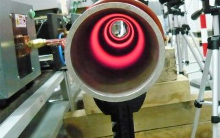 Induction coil with zones from the inside