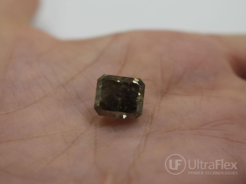 Heat treated diamond