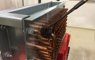 Brazing of copper pipes for heat exchangers