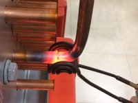 induction brazing of copper