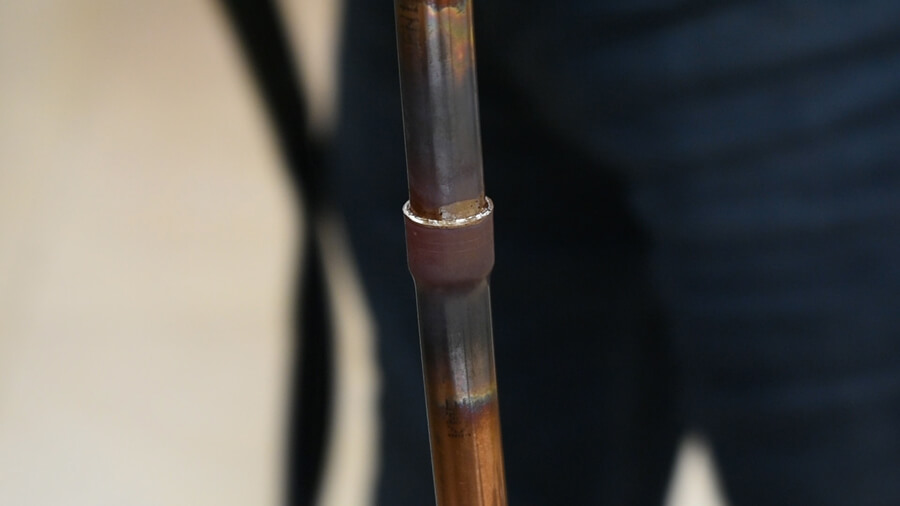 induction brazing of copper pipes
