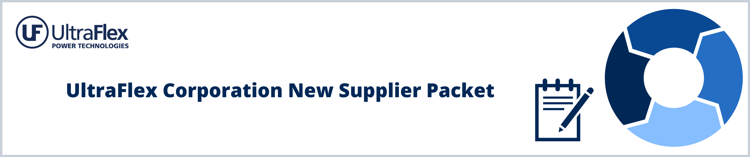 UltraFlex Corporation New Supplier Packet (1)